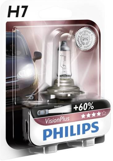 Philips VisionPlus H7 12 V 1 pár PX26d, átlátszó