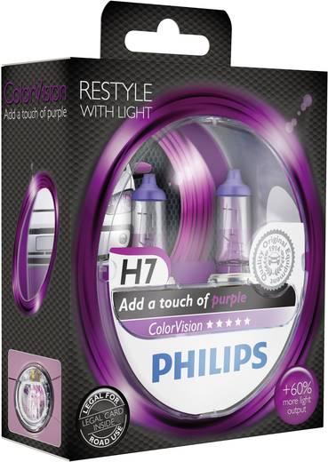 Philips Colorvision H7 12 V 1 pár PX26d Lila