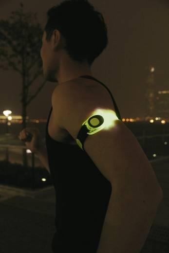 Csuklóra vagy bokára szerelhető figyelemfelkeltő LED-es villogó, zöld