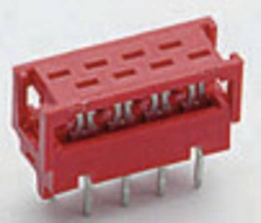 Nyáklap csatlakozó, raszterméret: 1.27 mm , pólus: 6 , névleges áram: 1.5 A Mikro-MaTch TE Connectivity , tartalom: 1 db