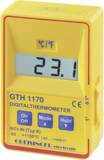 Greisinger digitális precíziós hőmérő, -65 - +1150 °C, GTH 1170