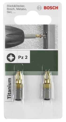 Bosch Csavarozó bit, titánium, PZ 2609255926 Pozidriv PZ 2Hossz:25 mm
