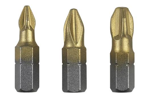 Bosch 3 részes Csavarozó bit készlet titánium (PH) 2609255965 hossz 25 mm