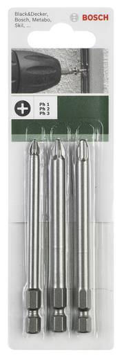 Bosch 3 részes Csavarhúzó pengen készlet (PH) 2609255966 hossz 89 mm