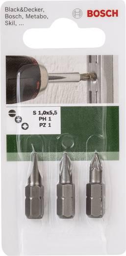 Bosch 2609255974 3 részes Csavarozó bit készlet Standard (HEX, PH, PZ)