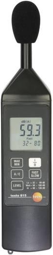 Testo 815 Decibel mérő, zajszintmérő 31.5 - 8 kHz 32 - 130 dB A/C
