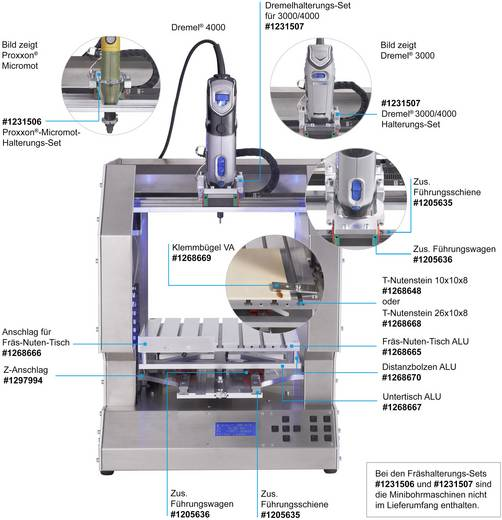 Ütköző maróasztalhoz, RF 1000 3D nyomtatóhoz