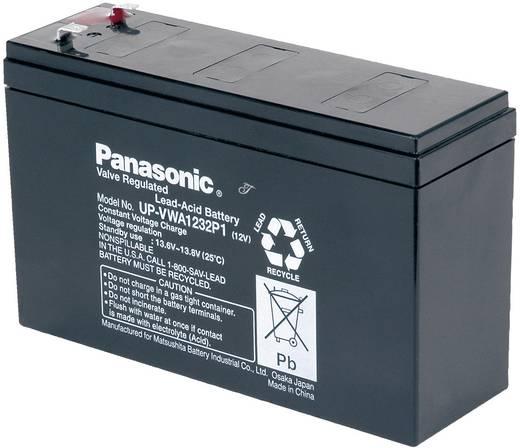Ólomakku 12 V 2.6 Ah Panasonic Ólomakku 12V 2,6 Ah UP-VWA1232P2 Ólom-vlies (AGM)151 x 94 x 51 mm 6,35 mm-es dugó