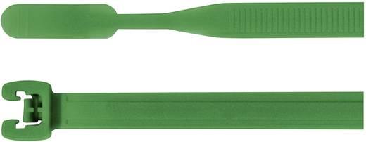 Kábelkötöző, (H x Sz) 155 mm x 2.6 mm Q18I-PA66-GN-C1 Szín: Zöld 100 db HellermannTyton
