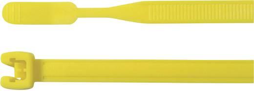 Nyílt végű kábelkötegelő készlet, 155 x 2,6 mm, sárga, 100 db, HellermannTyton 109-00155 Q18I-PA66-YE-C1