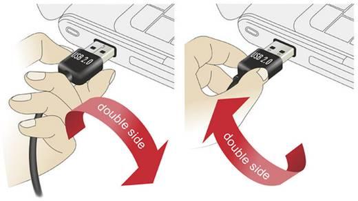 USB kábel [1x USB 2.0 dugó A - 1x USB 2.0 dugó B] 1 m Fekete Delock 1007846