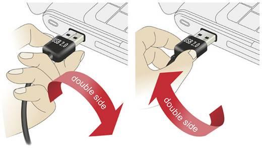 USB kábel [1x USB 2.0 dugó A - 1x USB 2.0 aljzat A] 3 m Fekete Delock