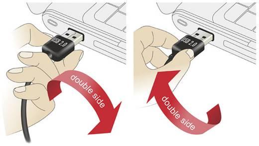 USB kábel könyök dugóval [1x USB 2.0 dugó A - 1x USB 2.0 dugó B] 1 m Fekete Delock 1007862