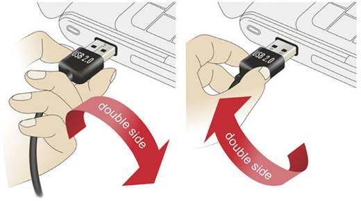 USB kábel [1x USB 2.0 dugó A - 1x USB 2.0 dugó A] 1 m Fekete Delock