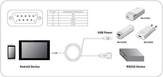USB - RS232 kábel [1x USB 2.0 dugó Micro B - 1x RS232 dugó 3pól.] 1m fekete, Digitus DA-70160