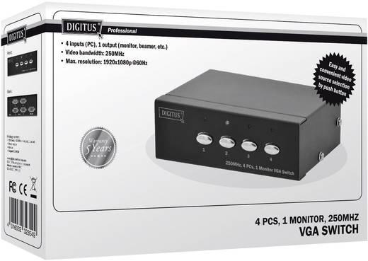VGA váltó, 4 számítógép, 1 monitor, Digitus DS-45100-1