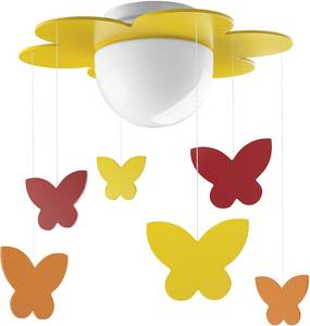Mennyezeti lámpa, Schmetterlinge E27 15 W Philips Meria Sárga, Narancs Philips Lighting