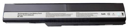 Litium ion laptop akkumulátor Asus 4400 mAh 14,4V Beltrona N82A32N82