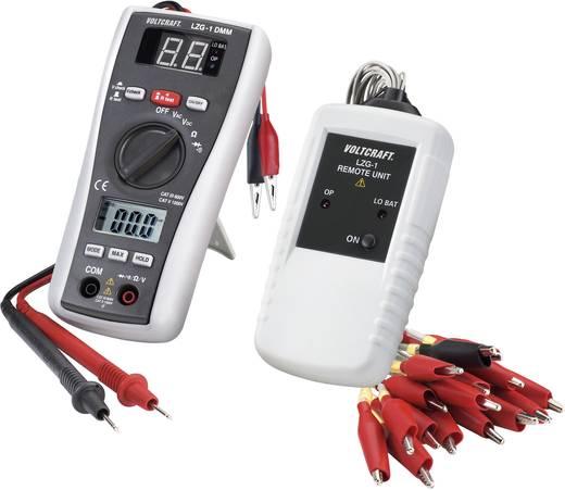 Digitális multiméter vezetékvizsgálóval, CAT III 600 V, Voltcraft LZG-1