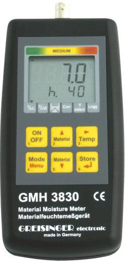 Greisinger GMH 3830 digitális precíziós anyagnedvességmérő műszer, 0-100 %