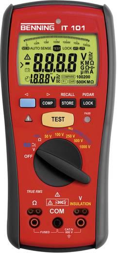 Szigetelési ellenállás mérő 50/100/250/500/1000 V 0 - 20 GΩ CAT IV 600 V Benning IT 101