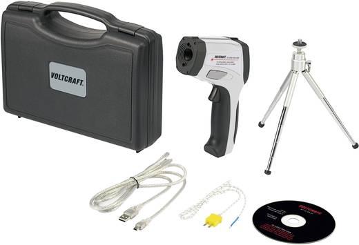 Infra hőmérő pisztoly, távhőmérő kettős célzólézerrel USB-vel 50:1 optika -50-től+2200 °C-ig Voltcraft IR-2200-50D