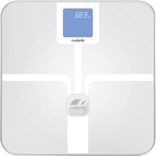 Bluetooth személymérleg okostelefonhoz és tablethez, 150 kg, fehér, Runtastic Libra RUNSCA1W