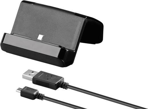 Dokkoló töltőállomás okostelefonokhoz mikro USB csatlakozóval, Goobay