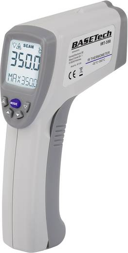 Infra hőmérő lézeres célzóval, távhőmérő 10:1-es optikával -32...+350°C, Basetech IRT-350