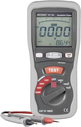 Szigetelés teszter, szigetelés vizsgáló 125/250/500/1000V CAT III 600V Voltcraft ET-100