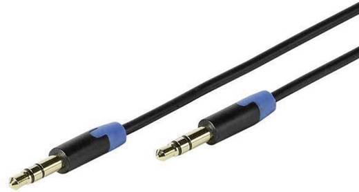 Jack audio kábel, 1x 3,5 mm jack dugó - 1x 3,5 mm jack dugó, 0,6 m, aranyozott, fekete, Vivanco 1010220