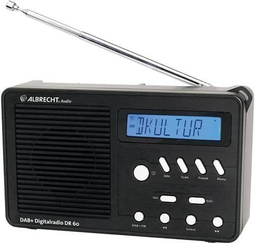 DAB rádió, táskarádió, DAB+, URH, fekete, Albrecht DR 60
