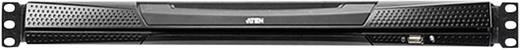 19-os rackszekrénybe építhető dupla sínes 8 portos KVM switch LCD kijelzővel Aten KL1508AM-AX-XG