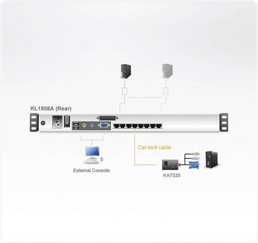 8-port 19z lcd cat5e/6 kvm switch