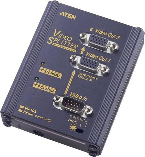 2 portos VGA elosztó 1920 x 1440 pixel, fekete, ATEN VS102-AT-G