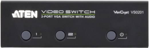 2 portos VGA elosztó 1920 x 1440 pixel, ezüst, ATEN VS0201