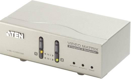 2 portos VGA-Matrix átkapcsoló távirányítóval 1920 x 1440 pixel, ezüst, ATEN VS0202-AT-G