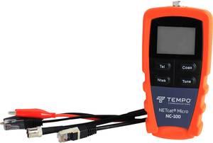 Vezetékvizsgáló kábelteszter hálózati és telefonkábelekhez RJ11, RJ45, koax F csatlakozóval Greenlee NETcat Micro NC-100 Tempo Communications