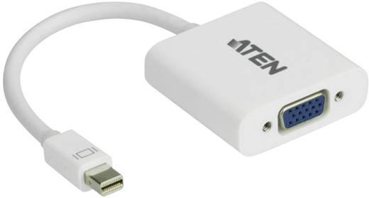 Mini DisplayPort - VGA átalakító adapter, 1x mini DisplayPort dugó - 1x VGA aljzat, fehér, ATEN