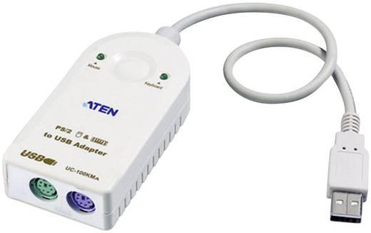 PS/2 / USB Billentyűzet/egér Csatlakozókábel [2x PS/2 alj - 1x USB 2.0 dugó, A típus] 0.30 m Fehér ATEN
