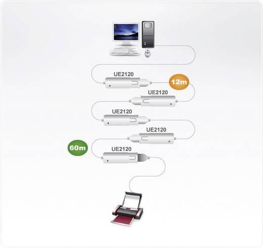USB 2.0 hosszabbító kábel 12 m, szürke UE2120