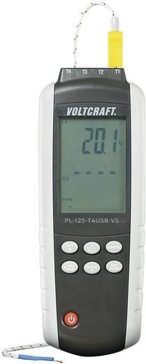 """4 csatornás digitális """"K/J"""" típusú hőmérő, Voltcraft PL-125-T4"""