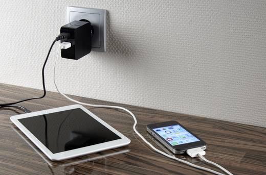 USB-s hálózati töltő kettős aljzattal 2 x 2400 mA VOLTCRAFT SPS-2400/2+