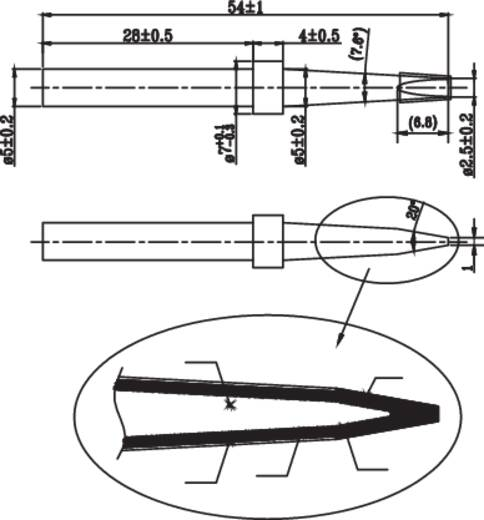 Véső formájú pákahegy 5mm Toolcraft KK-15030P Tip D