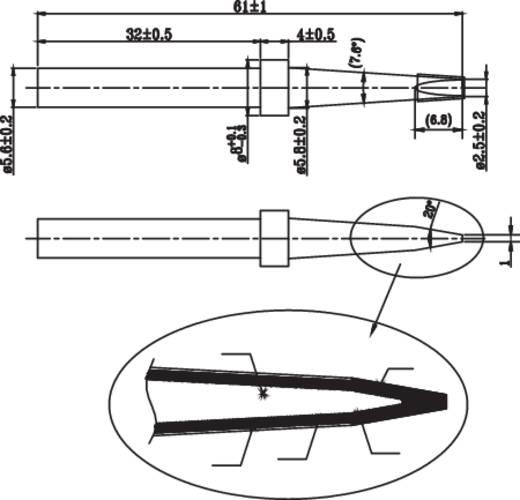 Pákahegy 5.6mm-es véső formájú 23/45W-os Toolcraft pákához TOOLCRAFT KK-23045P Tip D