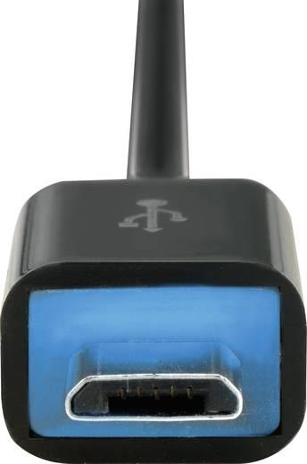 USB - Micro USB 2.0 kábel LED-del és SuperSoft kábelköpennyel, Renkforce