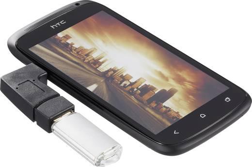 USB 2.0 mikro-B adapter, 90°-ban hajlított, OTG funkcióval, Renkforce
