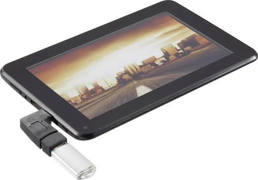 USB 2.0 mini-B adapter, 90°-ban hajlított, OTG funkcióval, Renkforce