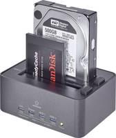 USB 3.0 SATA merevlemez dokkoló állomás klónozó és törlő funkcióval, Renkforce Renkforce