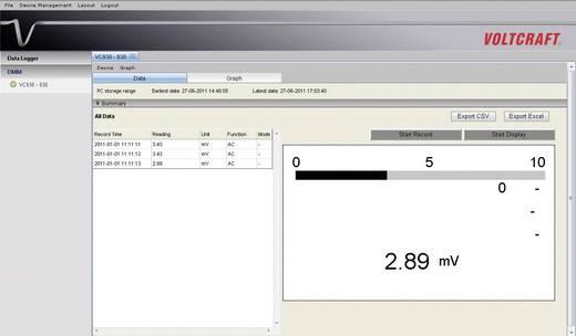 ISO Kalibrált asztali multiméter Voltcraft VC650BT (K)CAT II 600V